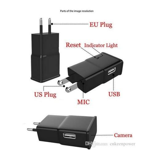 Camera IP siêu nhỏ ngụy trang đầu sạc Samsung xem trực tiếp trên điện thoại