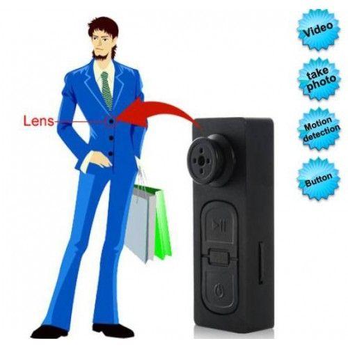 Camera siêu nhỏ ngụy trang cúc áo thiết kế nhỏ gọn, sử dụng vô cùng kín đáo an toàn.