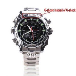 Đồng hồ camera G-Shock 8GB Full HD Dây Sắt