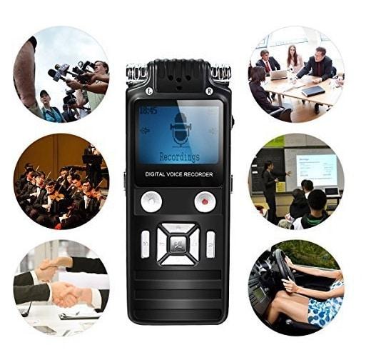 Máy ghi âm chuyên nghiệp siêu lọc âm K7 8GB hỗ trợ lọc âm siêu nhanh, siêu chuẩn