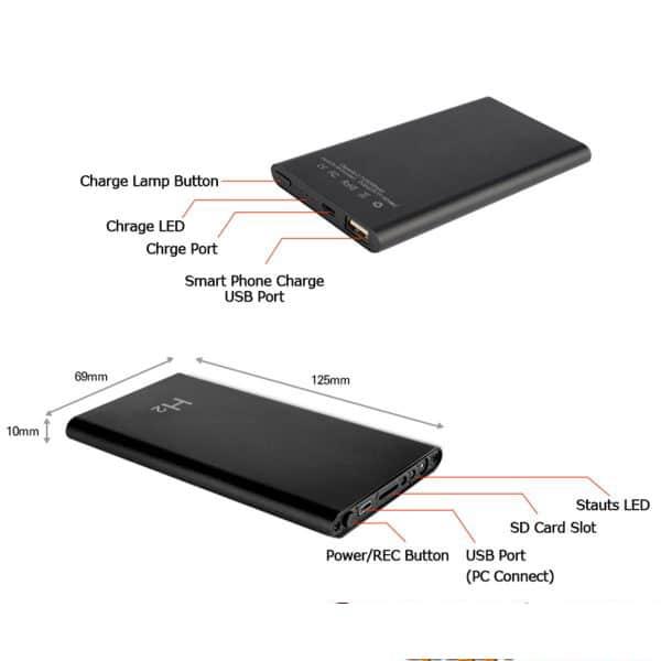 Pin Dự Phòng H2 Camera Full HD được tích hợp mạnh mẽ các thông số công nghệ cao.